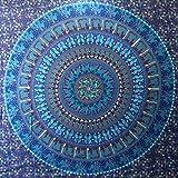 Wandteppich / Wanddekoration 'Kamel und Elefant', Mandala-Design, Hippie-Stil, Dekoration