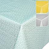 Tischdecke Wachstuch Wachstischdecke Wachstuchtischdecke abwaschbar Meergrün Minze Retro Uni Trend 100 x 140cm