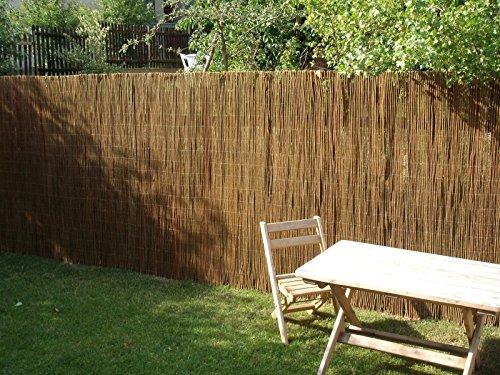 Nature LOUNGE Weidenmatte 200 x 300 cm - Hochwertiger Weiden Sichtschutz Zaun - Weidenzaun Matte für Haus, Garten und Balkon