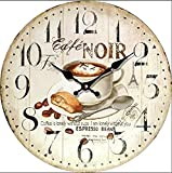 Tinas Collection Wanduhr im Cafe Noir Espresso Design, 30 cm Ø