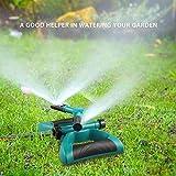 Garten Sprinkler, Automatische 360 Grad Rotierende Rasen Wasser Sprinkler 3-Arm Sprenger für Bewässerungsanlagen