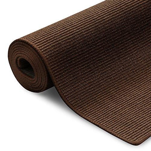 100% reines Sisal | Sisalteppich in verschiedenen Farben und vielen Größen (Dunkelbraun, 66 x 130 cm)