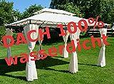 Eleganter Gartenpavillon Pavillon 3x4 Meter, Dach 100% wasserdicht UV30+, mit 6 Vorhängen Modell: 7075-A von AS-S