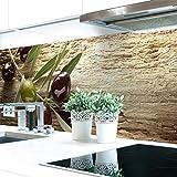 Küchenrückwand Oliven Premium Hart-PVC 0,4 mm selbstklebend 120x80cm