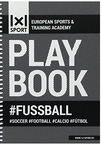 Das beliebte 1x1SPORT Playbook #FUSSBALL Din-A5 | Spielfeldvorlagen & Trainingshilfen für Fußballtrainer (Ringbuch, Fußball-Übungs- und Taktikblock, Din-A5, 200 Seiten)