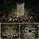 Broadroot Antike Solarlaterne Indoor Outdoor Licht Metall Wasserdichte Rasen Garten LED Decor Lampe