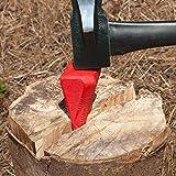 Spaltkeil aus Carbon-Stahl - Holz Spalter Keil Spaltgranate Holzspaltkeil Holzspalter Scheitkeil