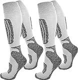 2 Paar normani Thermo Ski-Socke, atmungsaktiv und schützend Farbe Grau/Weiß Größe 39/42