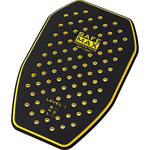 Safe Max Motorrad-Protektor-Rückeneinsatz Motorradjacke Rückenprotektor RP-1001 AKTION gelb sw.-gelb L, Unisex, Multipurpose, Ganzjährig, Kunststoff