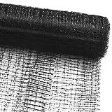 casa pura Vogelschutznetz zum Abdecken von Bäumen, Sträuchern, Beeten | viele Größen | reißfestes Vogelnetz für Garten, Balkon oder Teich | Netz zum Schutz vor Vögeln | Maschenweite: 13 mm | schwarz