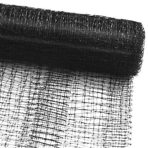 casa pura Vogelschutznetz zum Abdecken von Bäumen, Sträuchern, Beeten   viele Größen   reißfestes Vogelnetz für Garten, Balkon oder Teich   Netz zum Schutz vor Vögeln   Maschenweite: 13 mm   schwarz