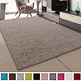 SANAT Teppich Wohnzimmer - Hochflor Langflor Teppiche Modern