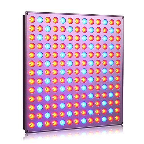 Roleadro 45w Pflanzenlampe LED Grow Light Rot Blau Licht fur Pflanzen Wachstum im Gewächshaus, Grow Box, Grow Tent(276 * 276 * 14mm) [EnergieklasseA+++]