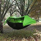 Camping Hängematte mit Moskitonetz und Regenschutz leicht Schlafsack Parachute Tragbare Lanyard Swing zum Aufhängen Bett für Jungle Feld Überleben, Wandern, Reisen, im Freien und Rucksackreisen