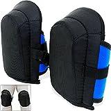 Gel-Knieschoner  2 Stück in Unigröße  elastische  stufenlos verstellbare Stoffriemen - Paar Gel Knieschützer Knieschutz Kniepolster
