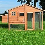 Zooprimus Hühnerstall 143 Geflügelhaus - LUXUS-HÜHNERHAUS - Stall für Außenbereich (für Kleintiere: Hühner, Geflügel, Vögel, Enten usw.)