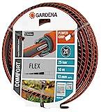 GARDENA Comfort FLEX Schlauch 13 mm (1/2'), 10 m: Formstabiler, flexibler Gartenschlauch mit Power-Grip-Profil, aus hochwertigem Spiralgewebe, 25 bar Berstdruck, ohne Systemteile (18030-20)