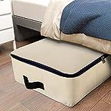 Lifewit Aufbewahrungstasche Bettdecke Leinwand Stoff Unterbettkommode für Bettwäsche Kleidung Matratze Decken Kissen Faltbar