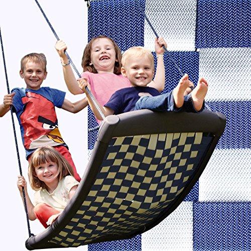 Große Mehrkindschaukel STANDARD weiß/blau für 4 Kinder, 136 x 66 cm (SPR.L.101)