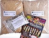 Räucherspäne Räuchermehl, Kirsche u. Buche Typ 3, inkl. fertige Mischung Pökellake und Buch 'Räuchern', DAS Komplettpaket für Anfänger und Fortgeschrittene