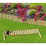 Steckzaun 100 cm Zaunhöhe 20 cm aus Holz für Beeteinfassung Rasenkante von Gartenpirat