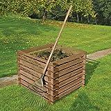Holzkomposter 90 x 90 cm mit Holz-Stecksystem von Gartenpirat