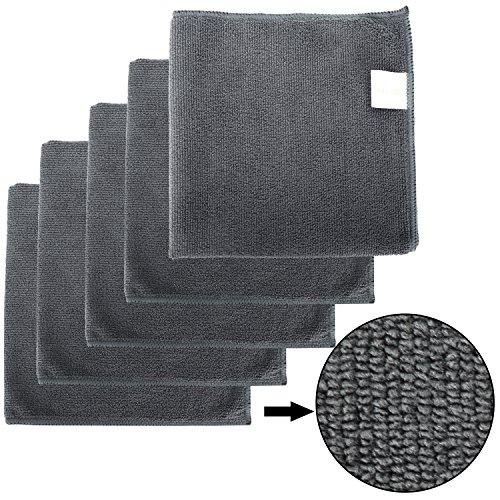 BONORUM Premium - Mikrofasertücher mit 300 GSM (!) - Perfekt für die Reinigung von Autos, Motorräder oder im Haushalt - 5 Stück - 40 cm x 40cm