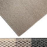 Moderner Teppich in Premium Sisal Optik | ausgezeichnet mit GUT-Siegel | pflegeleichtes Flachgewebe | viele Größen (taupe, 66x130 cm)
