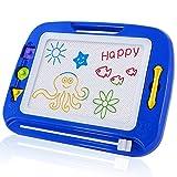 Sgile Zaubermaltafel Bunt Magnetisch Löschbar Zeichenbrett für Kinder mit 3 Form Stempeln Gekritzel Skizze Auflage Tafel Reißbrett Kindergeschenk