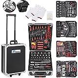 TRESKO Werkzeugkoffer 735 teilig | Werkzeugkasten | Werkzeugkiste | Werkzeugtasche | Werkzeug Set | Werkzeug-Trolley | Chrom-Vanadium Stahl