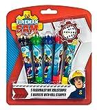 Fasermaler mit Rollstempel, Feuerwehrmann Sam, 5 Stück