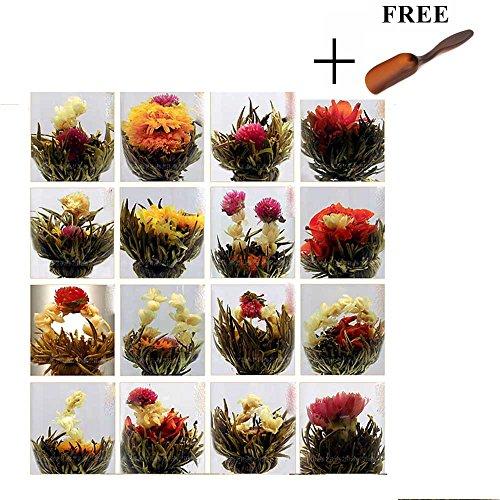 HuntGold 10ps eine Packung Zufalls chinesisches grünes Künstlerische Blooming Blühende Blumen Tee Ball
