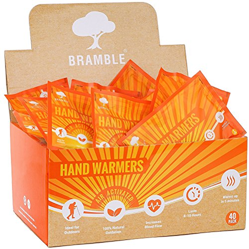40 Paare Premium Handwärmer, Wärmepads - 100% Natürlich Taschenwarmer Warmpack - 10 Stunden Wohltuende Wärme von 58°C - Maximale Wärme und Komfort im Winter