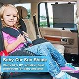 Sinbide Sonnenblende Auto Baby Sonnenschutz Baby Auto Auto Sonnenrollo Auto Sonnenschutzrollo Sonnenschutz Kinder Auto Auto Sonnenschutzblende Sonnenschutz Seitenscheibe (4 Stk)