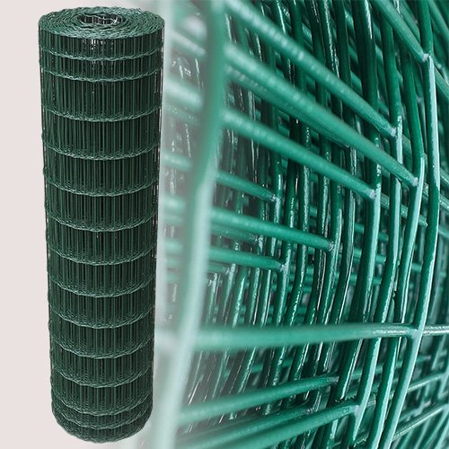 25 Meter Maschendrahtzaun Gitterzaun Drahtzaun grün Höhe 120 cm Maschenweite 5 x 10 cm Gartenzaun