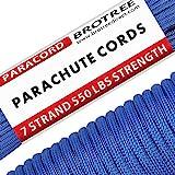 Brotree Paracord Schnur 550 Nylon Seil mit 7 Strängen Fallschirmschnur Reißfestem Kernmantel Seil 250KG Bruchfestigkeit (Standard, Reflektierende)