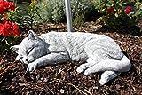 Steinfigur Grosse Katze schlafend, frostfest bis -30°C, massiver Steinguss
