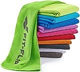 Fit-Flip Kühlendes Handtuch 100x30cm, Mikrofaser Sporthandtuch kühlend, Kühltuch, Cooling Towel, Mikrofaser Handtuch| Farbe: grün, Größe: 100x30cm