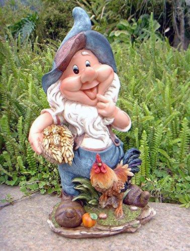 Design 11020 Zwerg 41 cm Hoch Deko Garten Gartenzwerg Figuren Dekoration verschiedene Design (11020 Design 1)