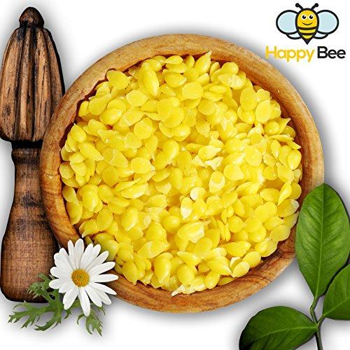 100 % reines Bienenwachs - 200 g - Pure gelbe Bienenwachs Pastillen - Perfekt geeignet für Kosmetik und die Kerzen Herstellung mit der ganzen Familie