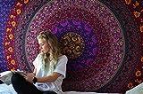 Hippie Mandala Tapestry Wandteppich Bohemian Rosa Einzigartig Baumwolle Wandbehang Tapisserie Blumen Wandtuch Von Rajrang