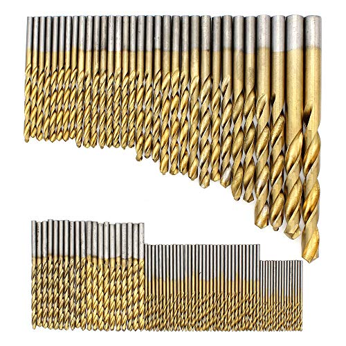 Subtop 99 tlg Spiralbohrer Set, 1.5mm-10mm HSS Bohrer Set Titanium Metallbohrer Spiralbohrer Handspiralbohrer