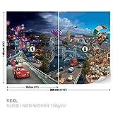 Disney Cars Vlies Fototapete Tapete Vliestapete Dekoshop Disney: Cars AD4-012VEXL 208cm x 146cm) Photo Wallpaper Mural