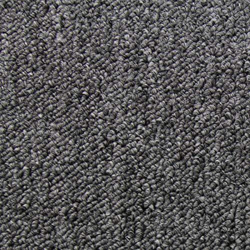 20 Stück Teppichfliesen Bodenfliesen Teppich 50 x 50 cm Gesamtfläche 5 m² (Anthrazit)