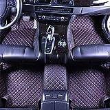 RUIX Auto Fußmatten GM-Bodenmatten-Leder Material der Jahreszeit 4 Für Das Auto Mit 5 Sitzen, Rutschfeste Abnutzung,Black