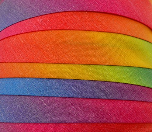 Schrägband / Textilband - Blende 'Regenbogen' 20 mm / Baumwolle (10 Meter)