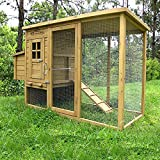 Pets Imperial Devonshire Large Chicken Coop Hen House Ark Poultry Run Nest Rabbit Hutch Box Suitable For Up To 4 Birds - Integrated Run & Cleaning Tray & Innovative Locking Mechanism