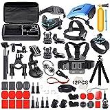 Deyard ZG-634-Zubehör-Set, für GoPro Hero 6,Hero5, schwarz, Hero 4,silber-schwarz, für Xiaomi SJ4000SJ5000und Akaso Crosstour Apeman-Action-Kamera
