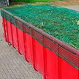 Anhängernetz, Containernetz, 3,50 x 5,00 m, DEKRA geprüft, 3 mm, Mw. 45 mm, PP grün