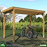 GHS Unterstand 3x2 m, Überdachung für Gartengeräte + Gartenmöbel